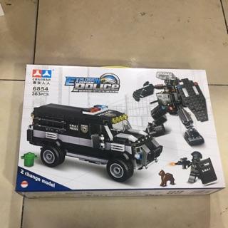 [có sẵn ] Lego xe oto cảnh sát – đồ chơi xếp hình lắp ráp xe oto cảnh sát với 363 miếng ghép