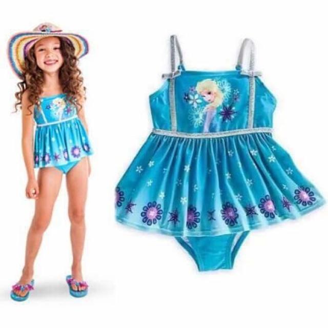 Ninikids: Bộ bơi cho bé gái hình Elsa ( bộ đồ đi biển)