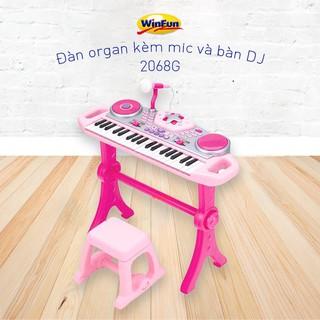 RẺ VÔ ĐỊCH !!! Đàn organ Winfun 2068G kèm mic và bàn DJ hồng chính hãng