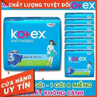 Combo 8 gói BVS Kotex Maxi Dày Không Cánh 23cm (1 gói 8 Miếng)