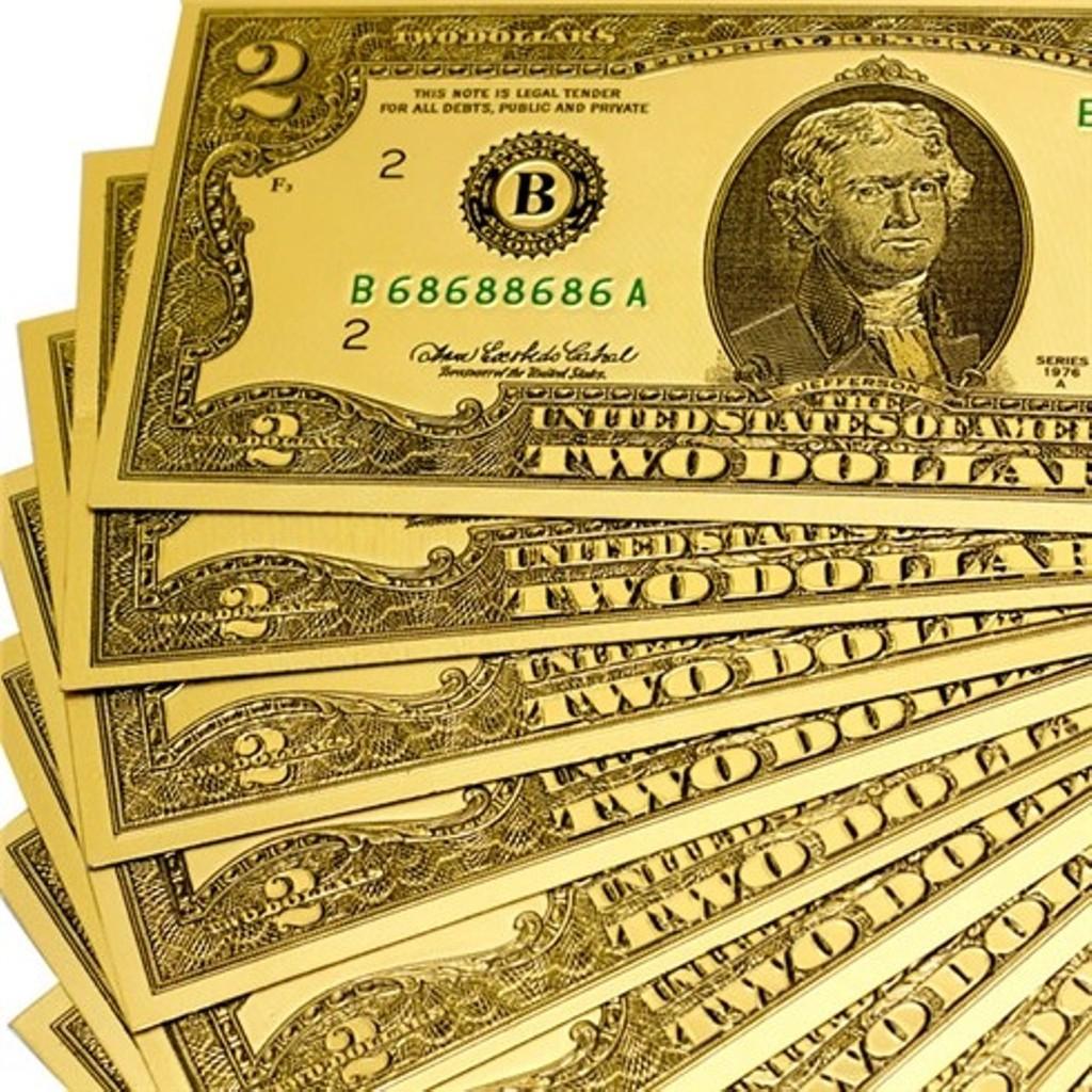 FREESHIP 99K_[Combo 10 30 50 Tờ] Tiền đô mạ vàng mang lại may mắn tài lộc cho ai chủ nhân