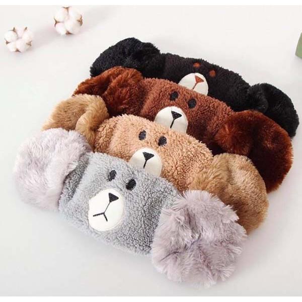 Khẩu trang có bịt tai siêu ấm áp, khẩu trang che tai hình gấu dễ thương