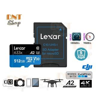 Thẻ nhớ MicroSDXC Lexar 512GB A2 V30 U3 4K 633x 100MB/s - With Adapter
