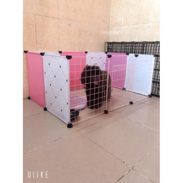 Combo Chuồng Quây Chó Mèo Lắp Ghép Siêu Tiện Ích Size 37X 47Cm.