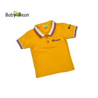 Áo thun Cotton có Cổ in hình Con Ong tay ngắn bé trai BabyBean