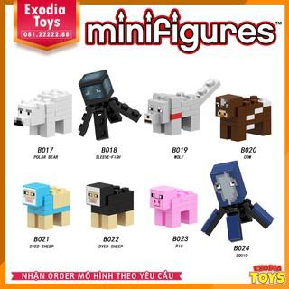 Xếp hình Minifigure nhân vật trò chơi Minecraft – Đồ Chơi Lắp Ghép Sáng Tạo – LELE 017 024