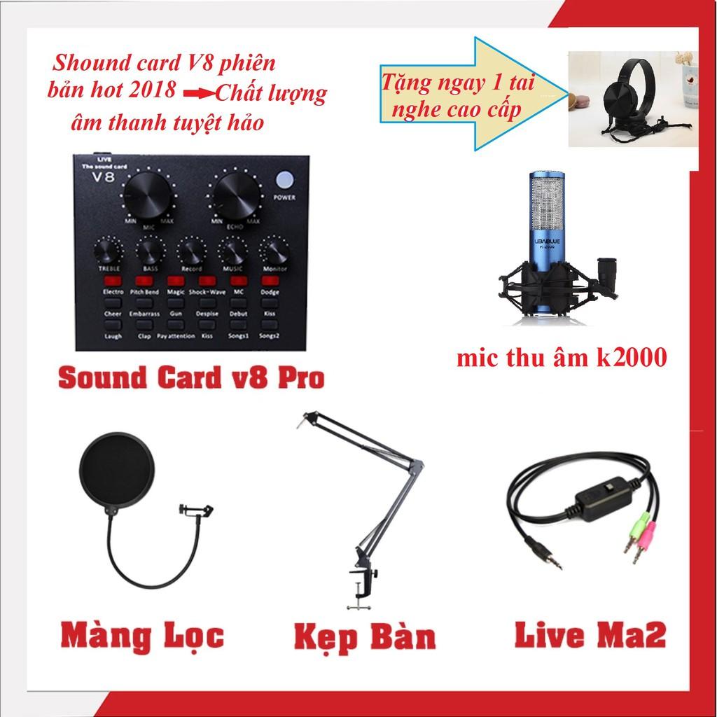 Combo trọn bộ livestream K-2000 -màng lọc-chân kẹp-dây live tream -sound card V8 tặng tai nghe cao c - 2582123 , 1324523891 , 322_1324523891 , 1050000 , Combo-tron-bo-livestream-K-2000-mang-loc-chan-kep-day-live-tream-sound-card-V8-tang-tai-nghe-cao-c-322_1324523891 , shopee.vn , Combo trọn bộ livestream K-2000 -màng lọc-chân kẹp-dây live tream -sound