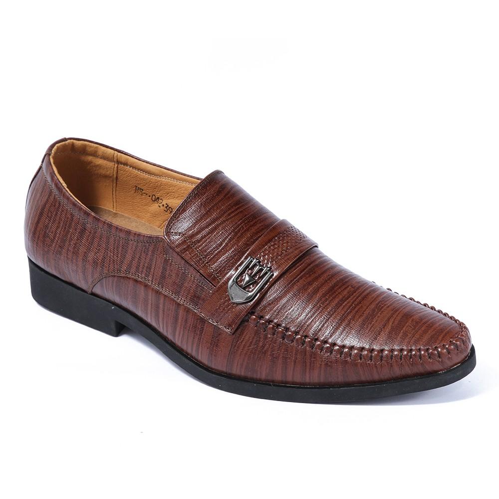 Giày da công sở lịch lãm SMARTMEN GL-042 (Nâu)