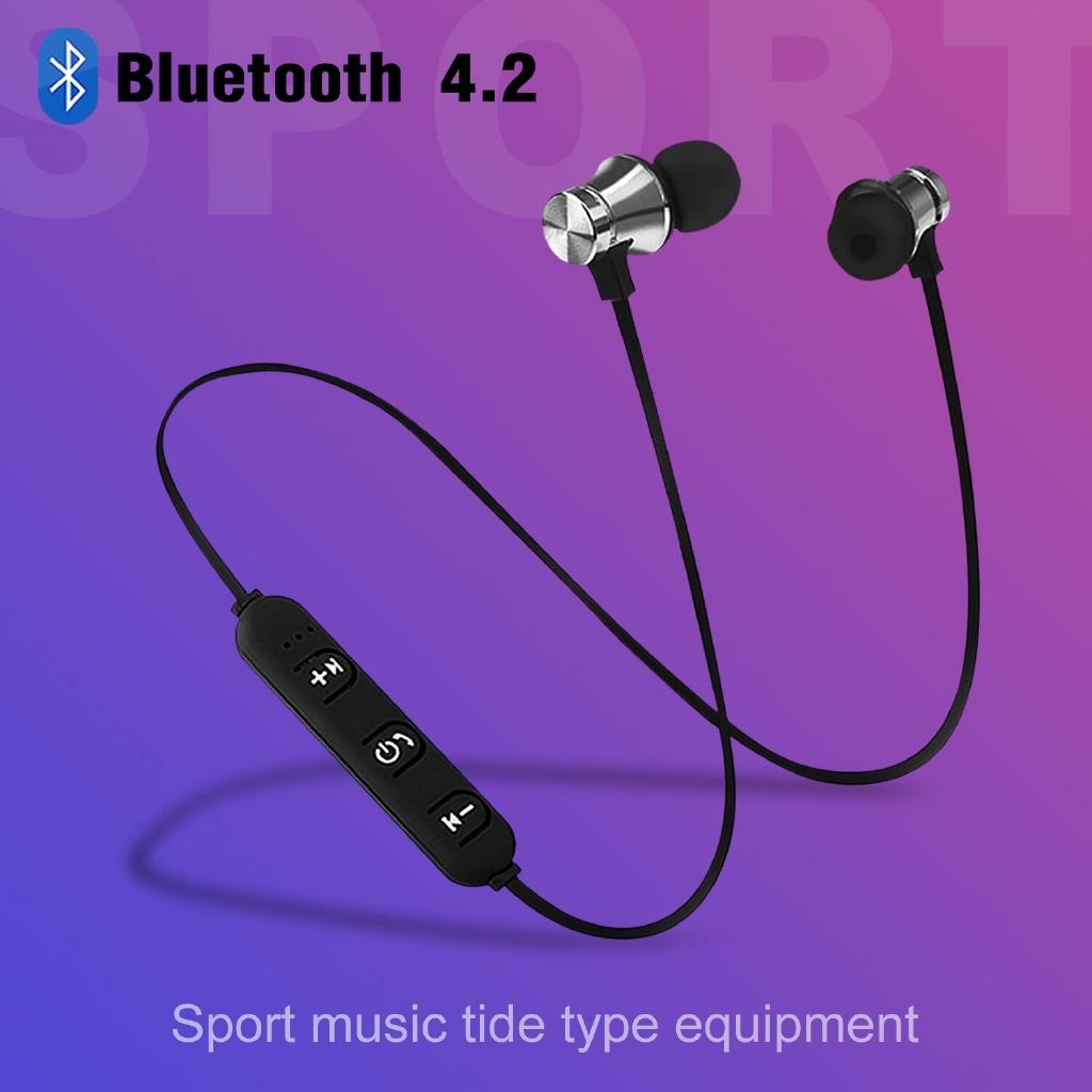 Tai nghe bluetooth 4.2 GOOJODOQ tích hợp micro kèm cáp sạc USB chống thấm nước