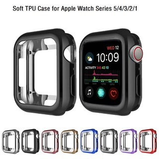 Vỏ Apple Watch Case 38mm 40mm 42mm 44mm Vỏ mạ TPU mềm cho iWatch Series SE 6/5/4/3/2/1