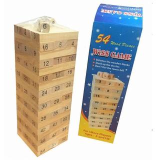 TRÒ TRƠI rút gỗ 54 thanh – ĐỒ CHƠI THÔNG MINH CHO BÉ