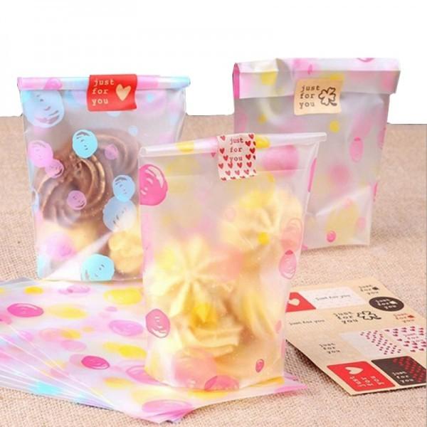 10 Túi Đựng Bánh Quy/Bánh Cookie/Đựng Kẹo 19*10cm
