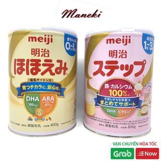 Sữa Meiji nội địa Nhật 800gr Meiji Lon số 0 và số 9 mấu mới date mới nhất
