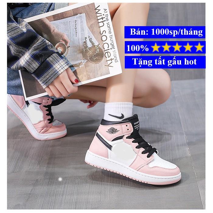 Giày nữ sneaker, giày nữ thể thao bóng rổ cao cổ hot trend 2021 BM006