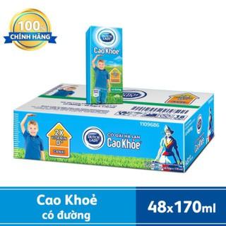 Sữa Tươi DutchLady Cao Khỏe 170ml ( 48 hộp x 170ml)