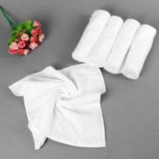 Khăn cotton vuông trắng làm khăn ăn, lau tay, lau bát, đĩa xuất Nhật dư thumbnail