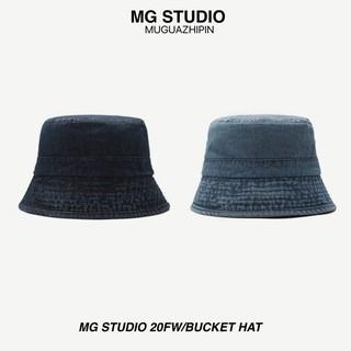 Mũ vành tròn MG STUDIO vải denim phong cách cổ điển