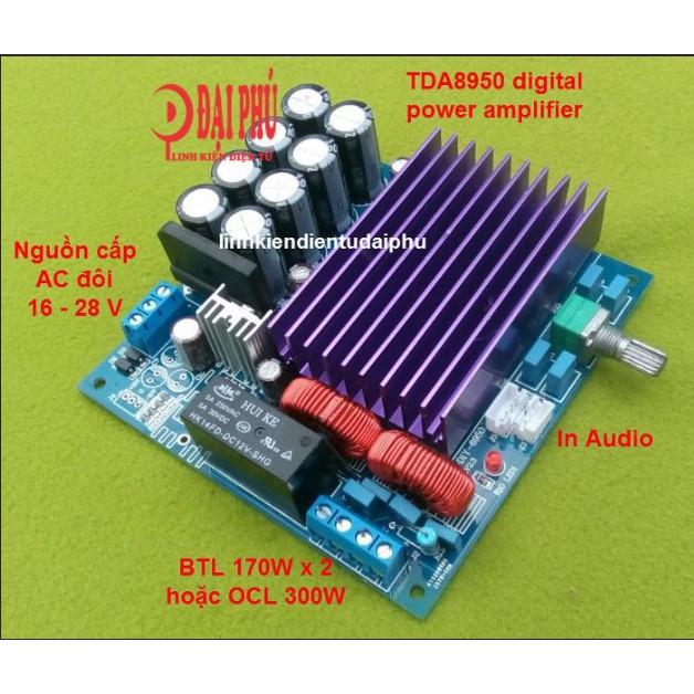 Mạch khuyếch đại công suất TDA8950 2x170W BTL hoặc OCL 300W, AC 16V- AC 28V - 3348323 , 1344652849 , 322_1344652849 , 535000 , Mach-khuyech-dai-cong-suat-TDA8950-2x170W-BTL-hoac-OCL-300W-AC-16V-AC-28V-322_1344652849 , shopee.vn , Mạch khuyếch đại công suất TDA8950 2x170W BTL hoặc OCL 300W, AC 16V- AC 28V