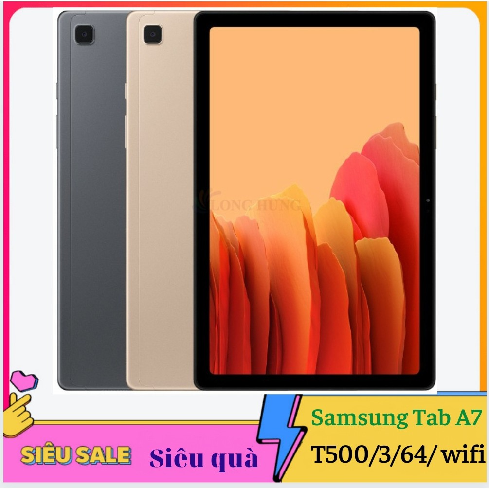 Máy Tính Bảng Samsung Galaxy Tab A7 (3GB/32GB) SM-T500 wifi tặng đế dựng, 2 phần mềm bản quyền tienganh123, luyenthi123