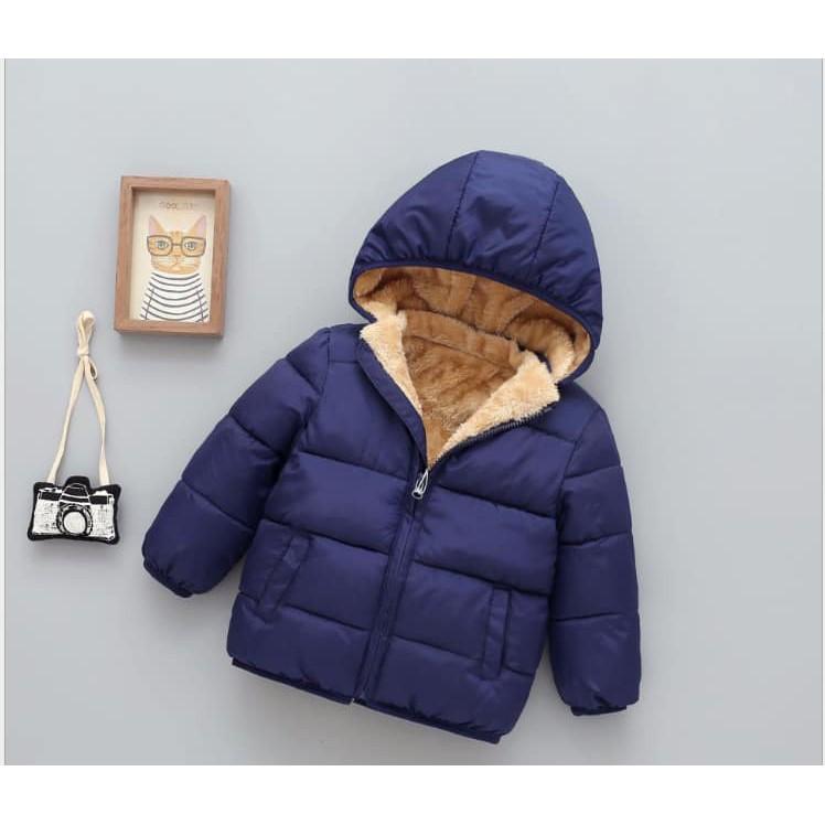 [Mã KIDGT99K giảm 15% đơn 99K] Áo phao lót lông cừu bé trai , bé gái siêu ấm loại 1( đủ size )