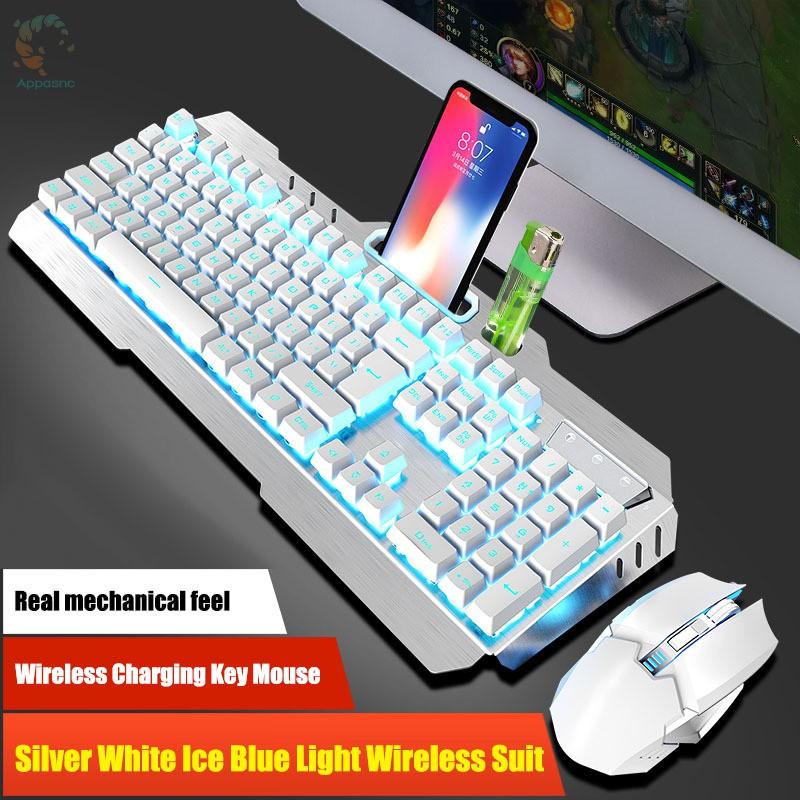 [BEST] 2.4G Wireless Keyboard Mouse Set Rechargeable Backlight Ergonomic 800-2400DPI Keypad Kit