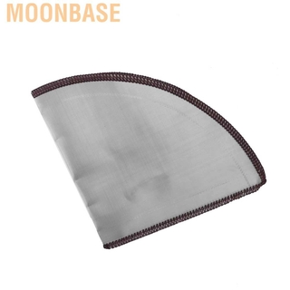 Moonbase Stainless Steel Coffee Filter Reusable Foldable Cone Strainer Bag 2-4 Cup