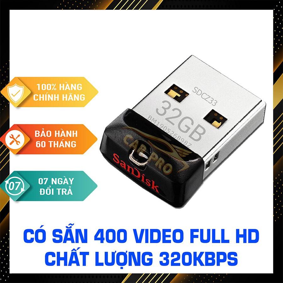 USB ô tô 32GB Hình - USB Nhạc Ô tô, Usb ca nhạc tuyệt đỉnh, Phụ kiện ô tô, Cắm là nghe, BH 5 NĂM