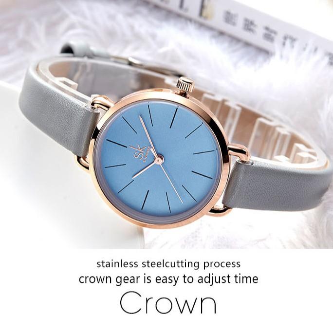 Summer new fashion imitation leather strap waterproof simple ladies watch quartz watch