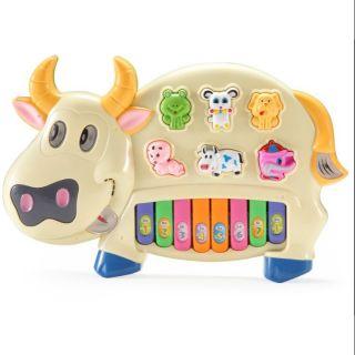 Đàn Piano Bò Siêu Đáng Yêu – Đồ Chơi Trẻ Em Giải Trí