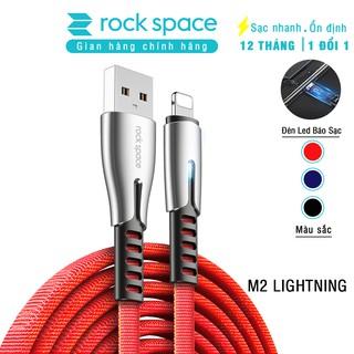 Cáp sạc cho iphone M2 có đèn led - Chính hãng Rockspace