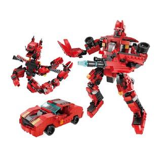 Bộ lắp ráp Robot biến hình Transformers Ratchet 3in1 Lele Brother 8557-2 (446 chi tiết)