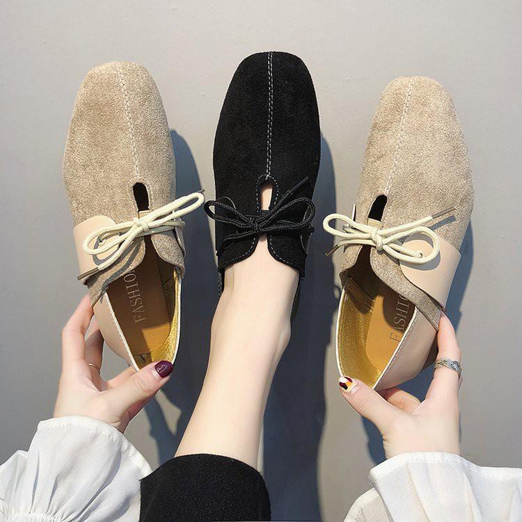 【จัดส่งฟรี】าเดียวหญิง 2019 ฤดูใบไม้ผลิใหม่ที่เรียบง่ายเท้าป่าหนากับรองเท้าผู้หญิง