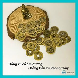 Đồng xu cổ âm dương chiêu tài - Đồng tiền xu Phong thủy may mắn- Hiên Nhà thumbnail