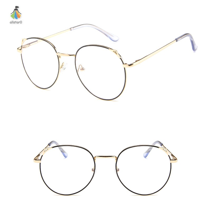 1 Pcs Student Anti Blue Ray Glasses Metal Frame Lightweight Fashion Clear Lens