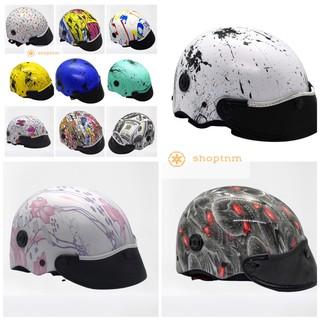 Mũ Bảo Hiểm Nhúng Cacbon Có Thông Gió, Nón Bảo Hiểm Nhúng Cacbon cao cấp logo đầy đủ