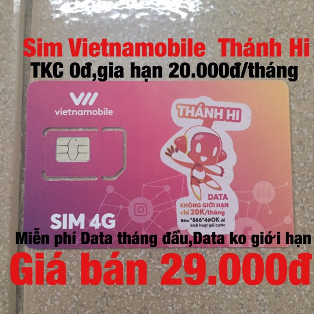 Sim Vietnamobile 4G Thánh Hi
