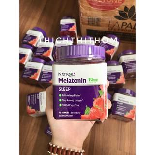 Kẹo Giúp Ngủ Ngon [CÓ BILL MỸ] Kẹo Ngủ Natrol Sleep Gummies Melatonin 10mg 90 viên (Date 5/2022)