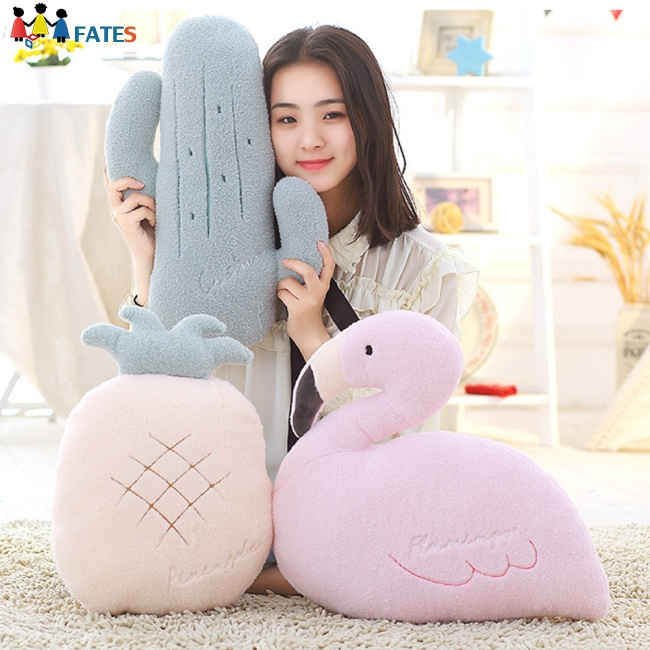 Home Back Cushion Pillow Cute Animal Vegetable Shape Plush Doll Toy