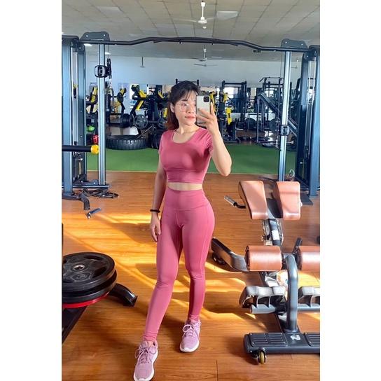 Mặc gì đẹp: Dẻo dai với [ FASHIONRUN19 - FASHIONHOT19 ] Bộ tập Gym nữ, đồ tập gym, yoga, aerobic nữ có tay chất đẹp BGM35