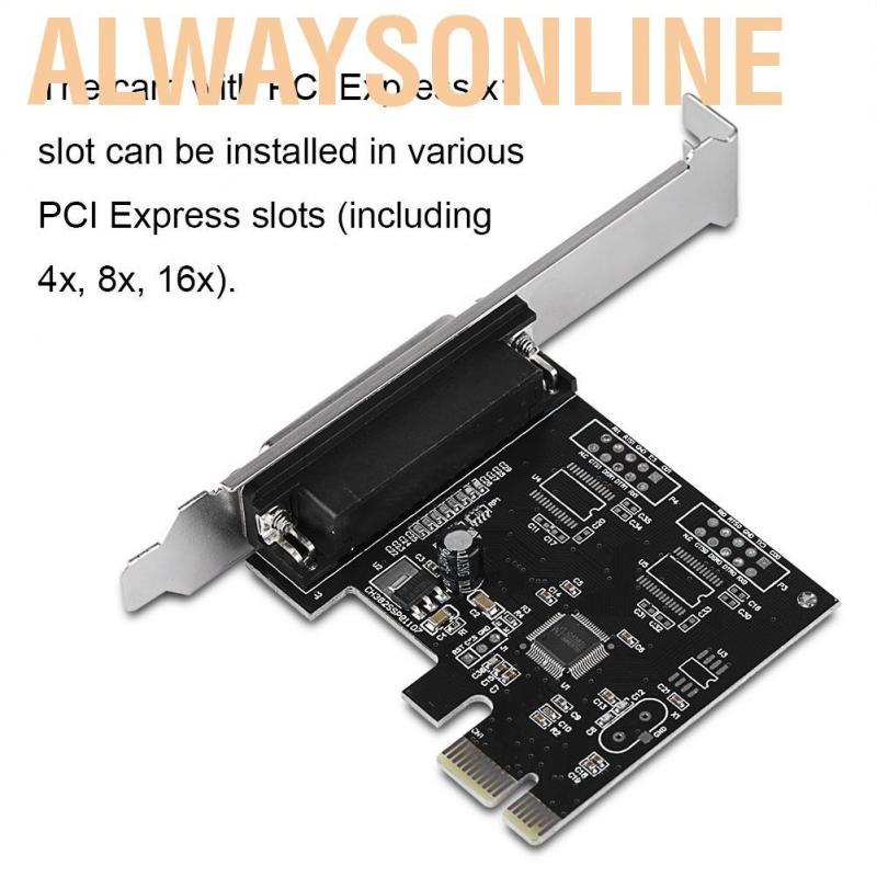 Thiết bị điều hợp máy in DB25 PCIE LPT PCI-E chuyên dụng