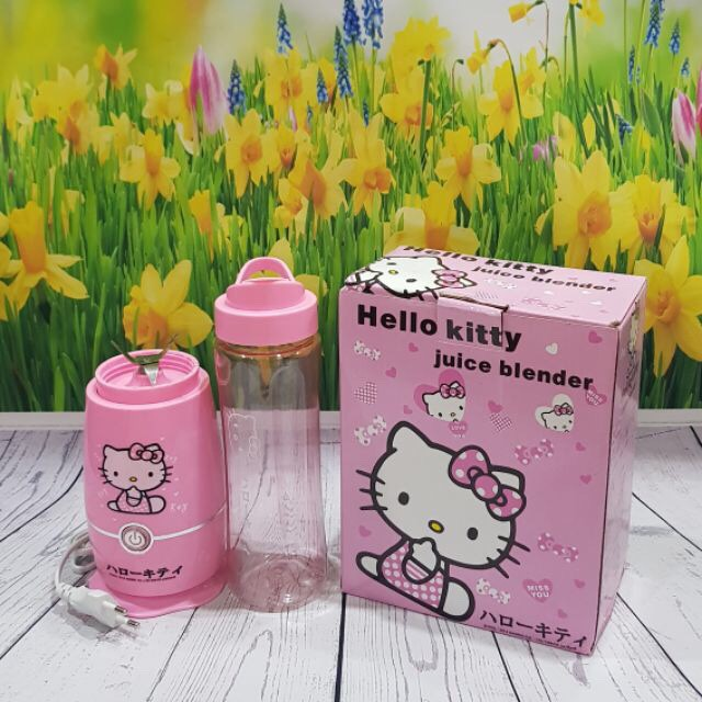 Deal Hot Máy xay sinh tố mini Hello Kitty