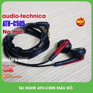 Tai nghe audio technica ATH-C505,không mic,màu đỏ,nobox