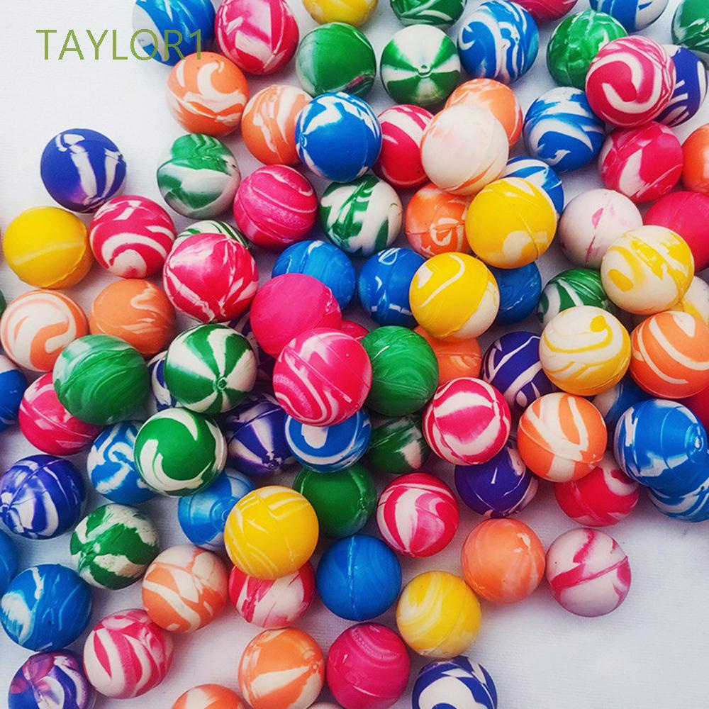 TAYLOR1 Party Favors Swirl Bouncing Balls Funny Toy Rubber Ball Bouncing Balls Bouncy Toy Mini Elastic Colorful 20mm Bath Toys Jumping Balls