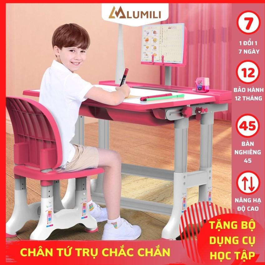 Bộ bàn học thông minh Lumili B02 có thể điều chỉnh độ cao