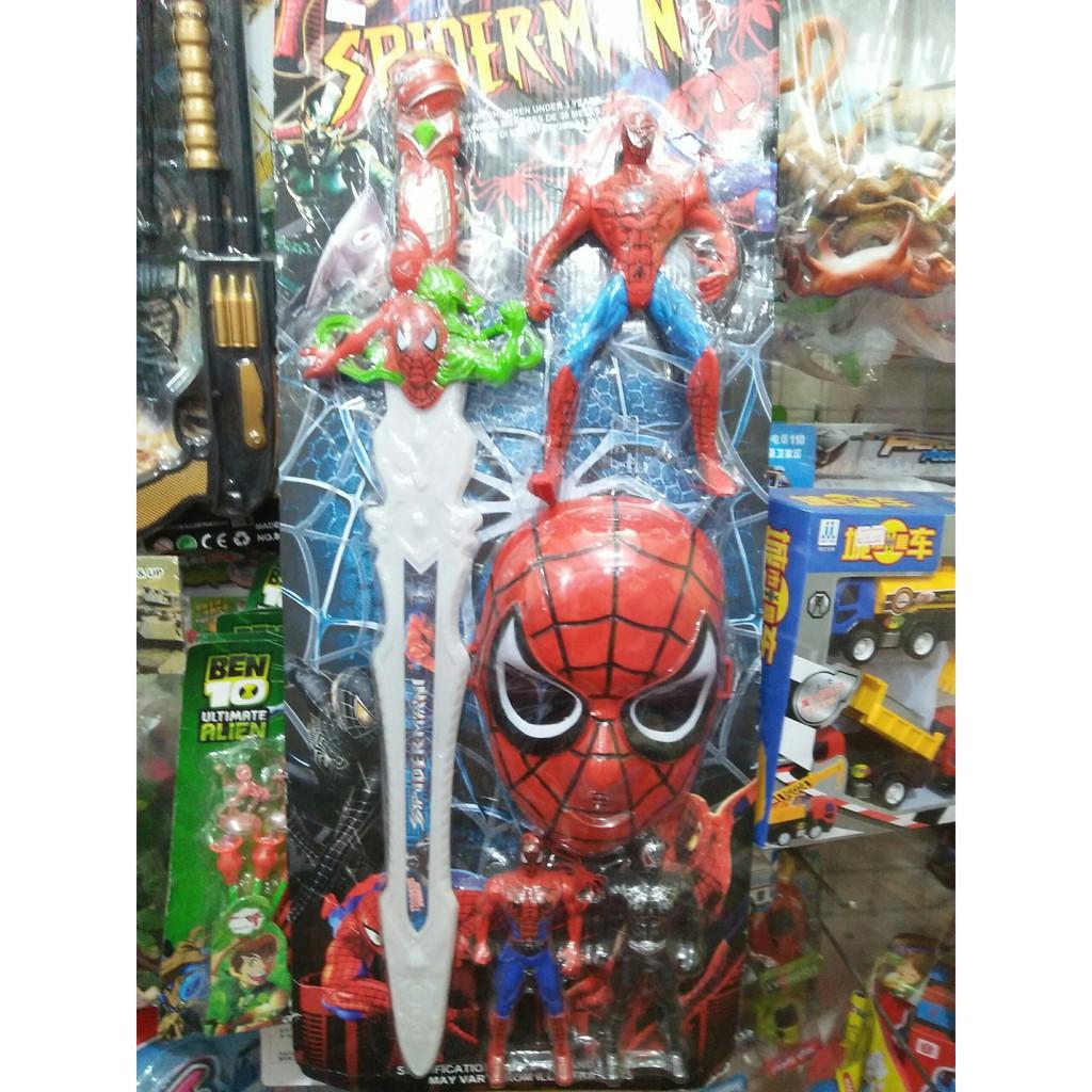 Đồ chơi kiếm nhện dùng pin có đèn nhạc