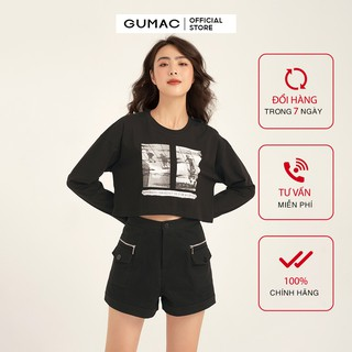 Áo thun nữ tay dài croptop GUMAC đủ màu đủ size, phong cách năng động trẻ trung ATB1122 thumbnail