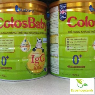 Combo 10 Lon Sữa Non ColosBaby Gold 1000IgG 0+ 800g Date T6.2022
