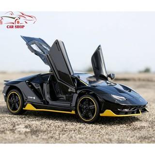 [Nhập 1212TOY giảm 10%]Xe mô hình giá rẻ Lamborghini-Miniauto 770-4 đen bóng tỉ lệ 1:32