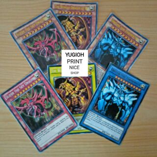 [BÀI IN] Bài YuGiOh – Bộ 15 lá bài thần hai phiên bản + Các lá bài bất ngờ ( Osiris + Obilisk + Ra )