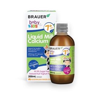 Siro Canxi Brauer Liquid Milk Calcium 200ml cho trẻ 7 tháng trở lên
